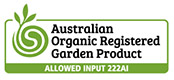 Australian Organic Registered Garden Products