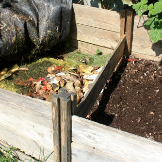 Compost bays are great in big gardens where you have plenty of raw materials to compost.
