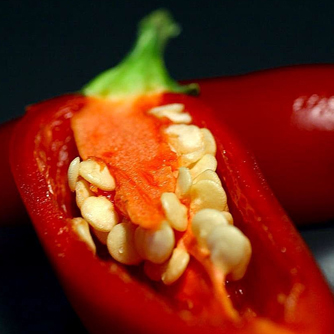 Remove chilli seeds before cooking to reduce the heat factor
